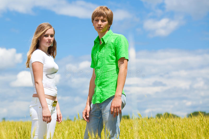 Download Teens in the field stock image. Image of free, adult - 12227721
