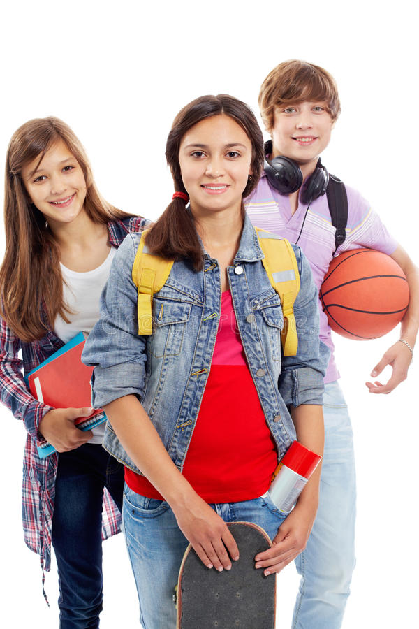 Download Teens isolated stock image. Image of active, lifestyle - 28707895