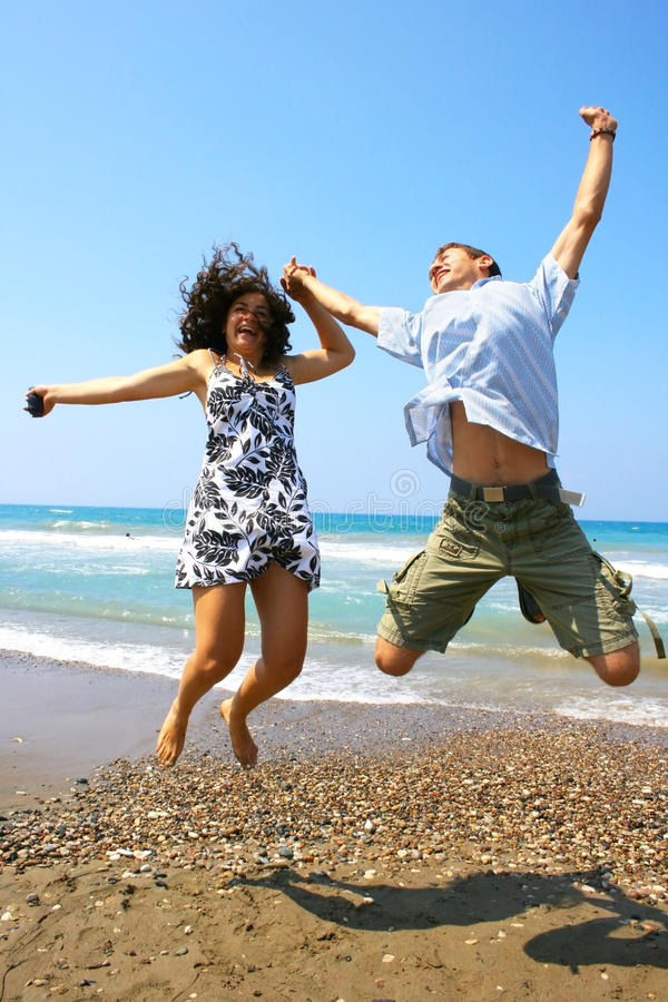 Download Teens jumping stock photo. Image of female, lifestyle - 13325914
