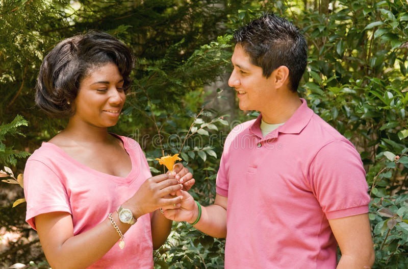 Teens in love stock photography
