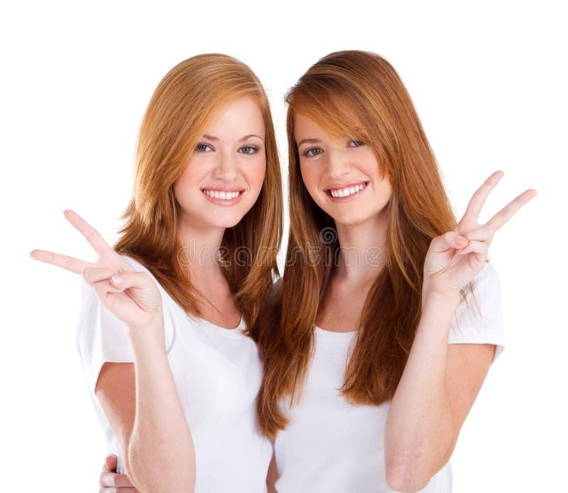 Teens peace royalty free stock image