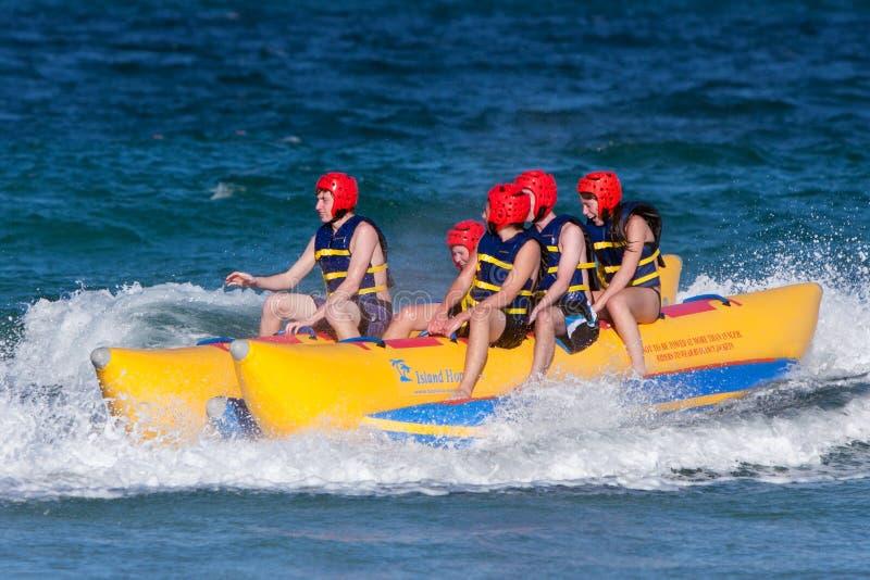 Download Teens Ride On Banana Boat editorial photo. Image of life - 25458681