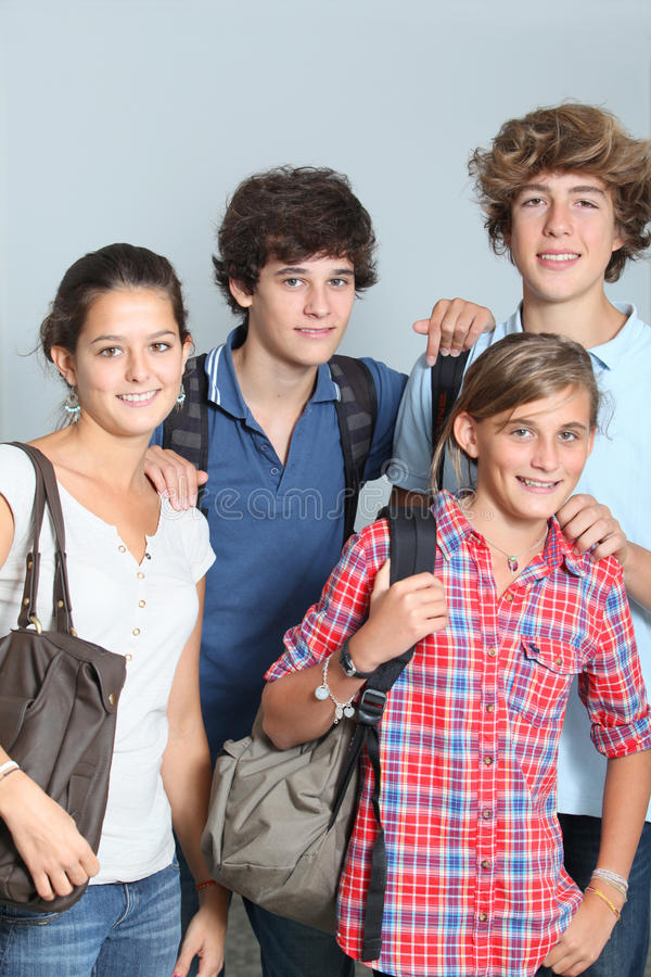 Download Teens at school stock image. Image of positive, shot - 16045479