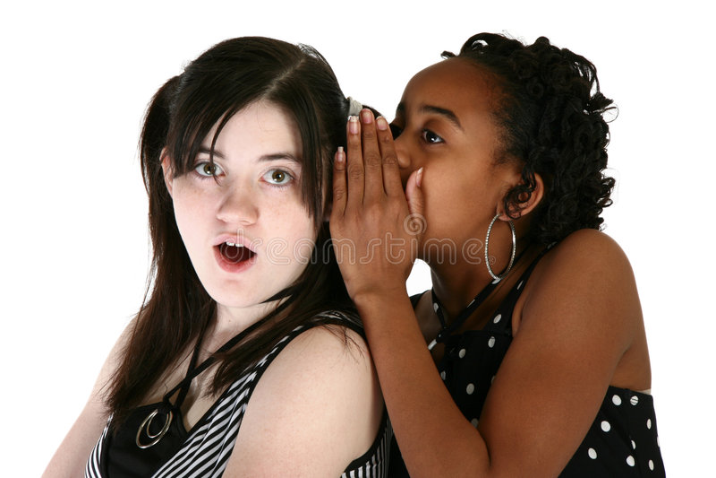 Teens and Secrets stock photo