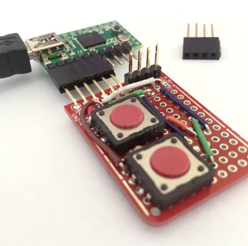 Teensy circuit board with addon stock photos