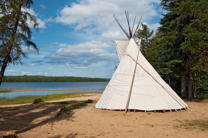 Teepee. Native canadian teepee, lanaudiere region of quebec stock image
