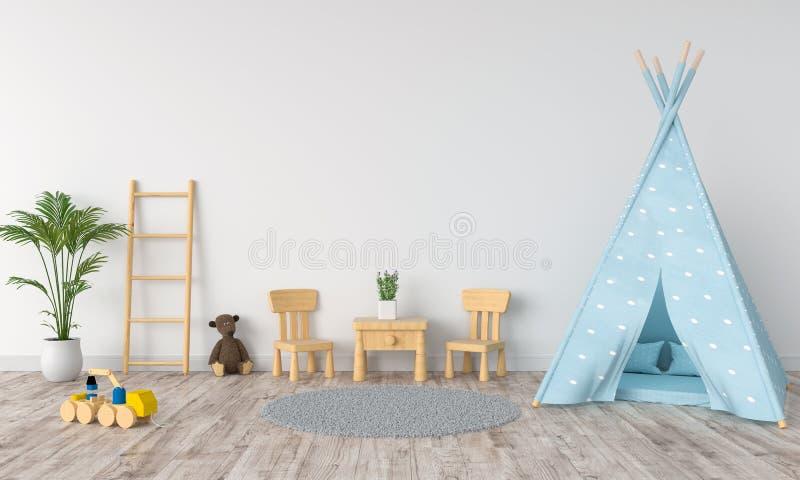Exterior: Childroom Modern Interior Stock Illustration. Illustration