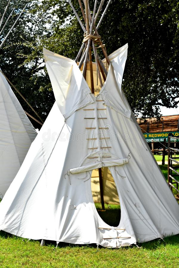 Teepee, Cone shaped tent, used by Native Americans for shelter royalty free stock photos