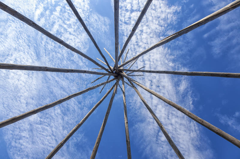 Teepee Frame royalty free stock photography
