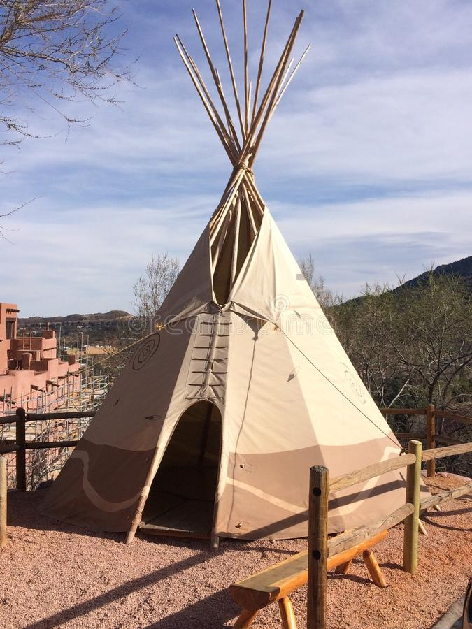 Teepee. At Manitou Cliff Dwelling Colorado Springs stock image