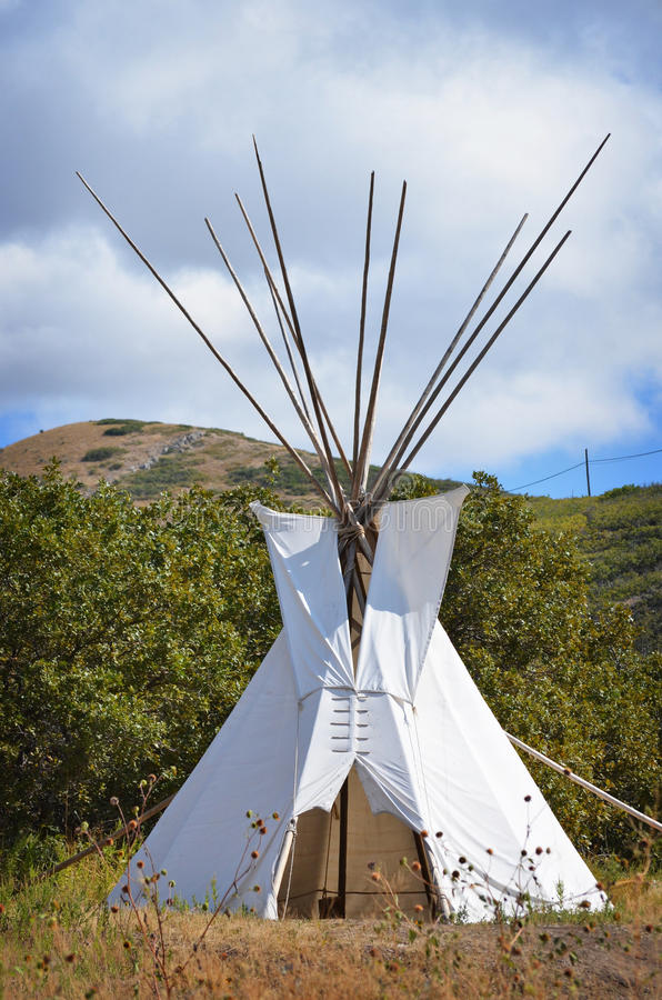 Teepee. Native American teepee located on plain royalty free stock photos