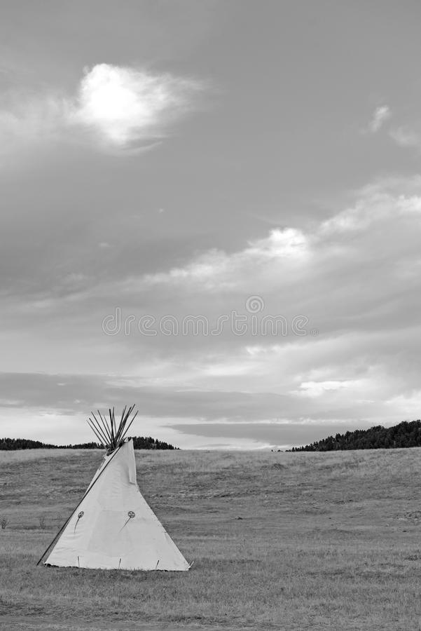 Teepee (tipi) as used by Great Plains Native Americans. Teepee (tipi) as used by Native Americans in the Great Plains and American west royalty free stock photos