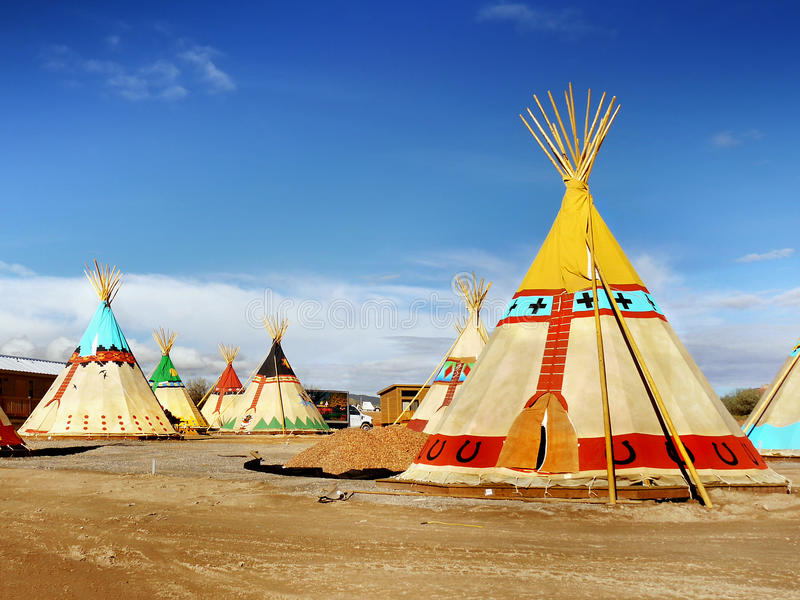 Teepee, Wigwam, Indian Tents royalty free stock images