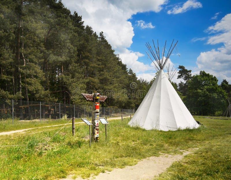 Teepee, Wigwam, Totem royalty free stock photography