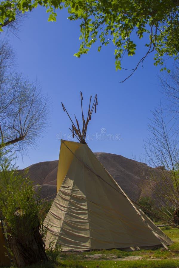 Teepees στην κοιλάδα θανάτου στοκ εικόνα με δικαίωμα ελεύθερης χρήσης