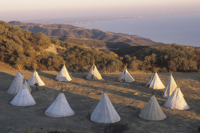 Download Teepees in a circle stock photo. Image of architecture - 26251676