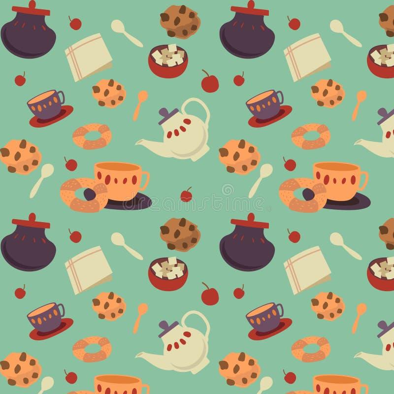 Teeplätzchenmuster lizenzfreie abbildung