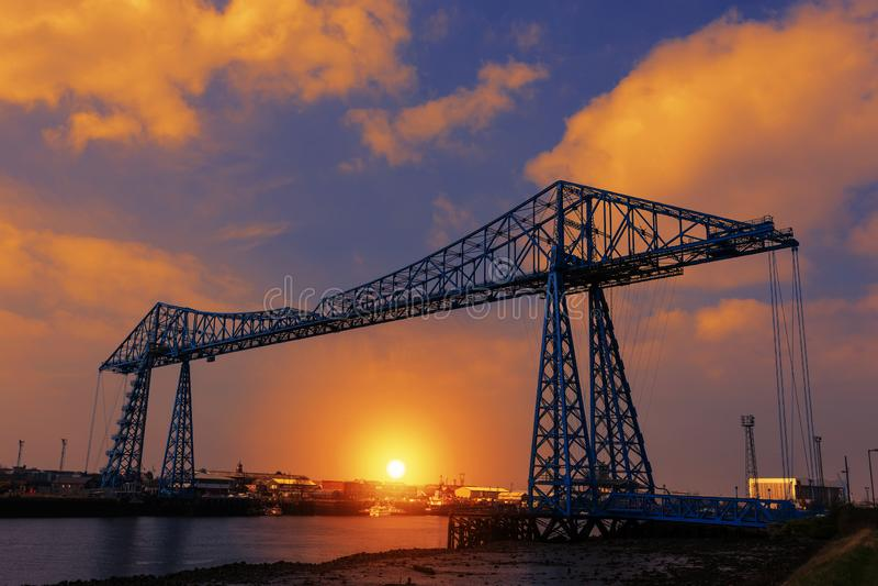 Tees мост транспортера стоковое фото rf