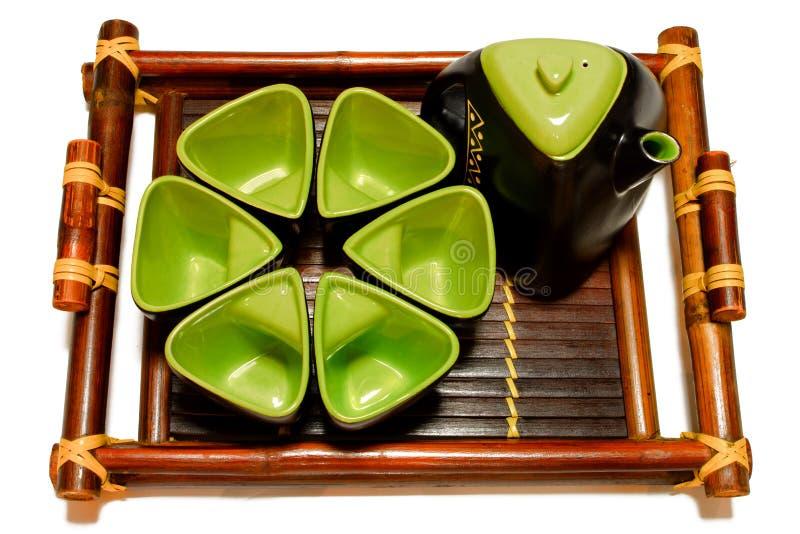 Teesatz stockbilder