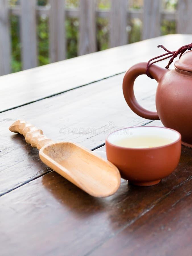 Teesatz für chinesische Teezeremonie lizenzfreie stockbilder