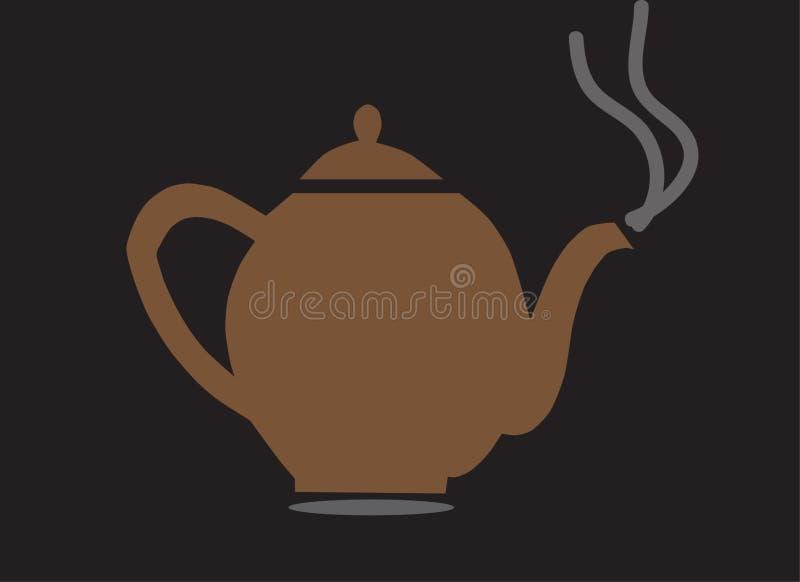 Teeschalenillustration stockfotos