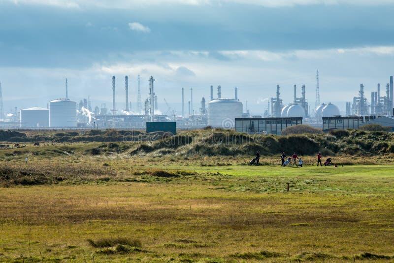 Teesside Industriële Complex stock foto's