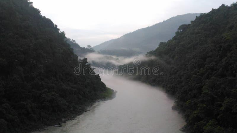Teesta flod fotografering för bildbyråer