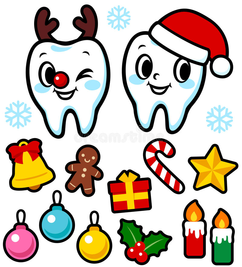 The teeth of the character Christmas royalty free illustration