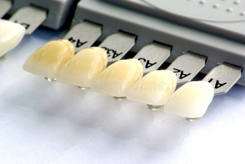 Teeth color guide royalty free stock images