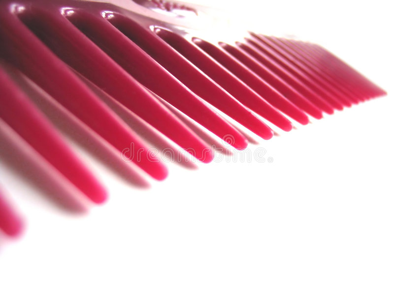 Teeth of a comb stock photography