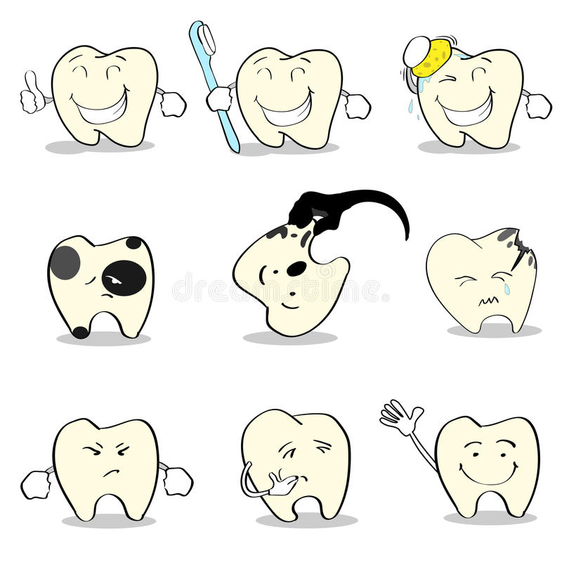 Teeth Dental Health Care Set Collection. Flat Vector Illustration vector illustration