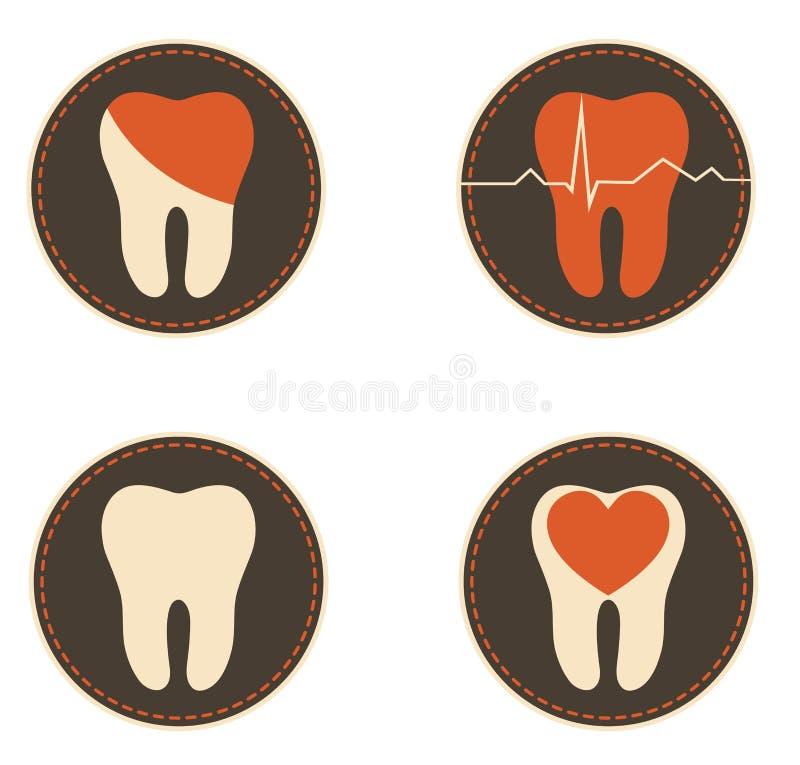 Teeth health care icons vector illustration