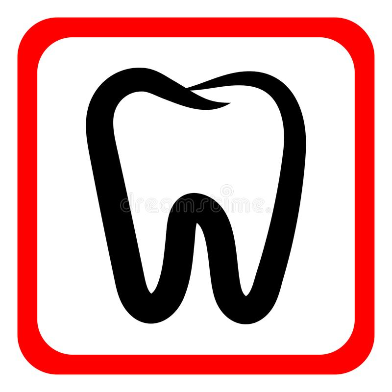 Teeth Icon Dentist Flat Vector Signsymbol For Mobile User