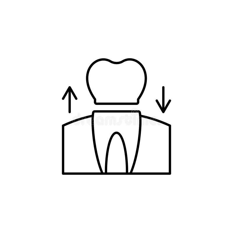 Teeth, prosthesis icon. Element of prosthetics thin line icon. On white background vector illustration