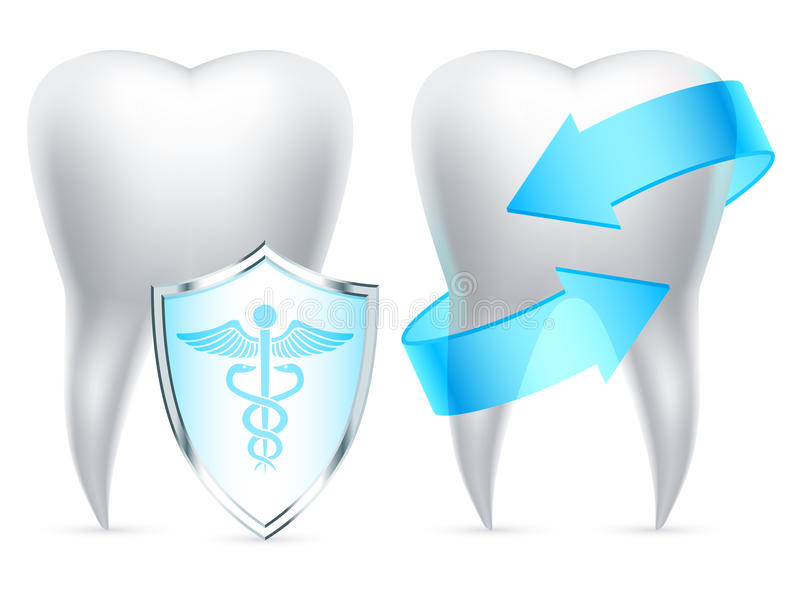 Download Teeth protection. stock vector. Image of objects, dental - 24295674