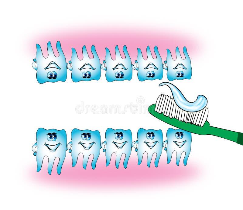 Teeths ilustração royalty free