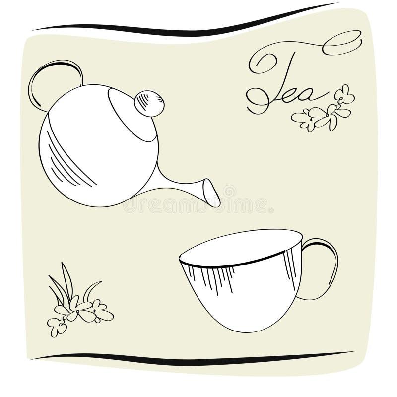 Teezeitkarte stock abbildung