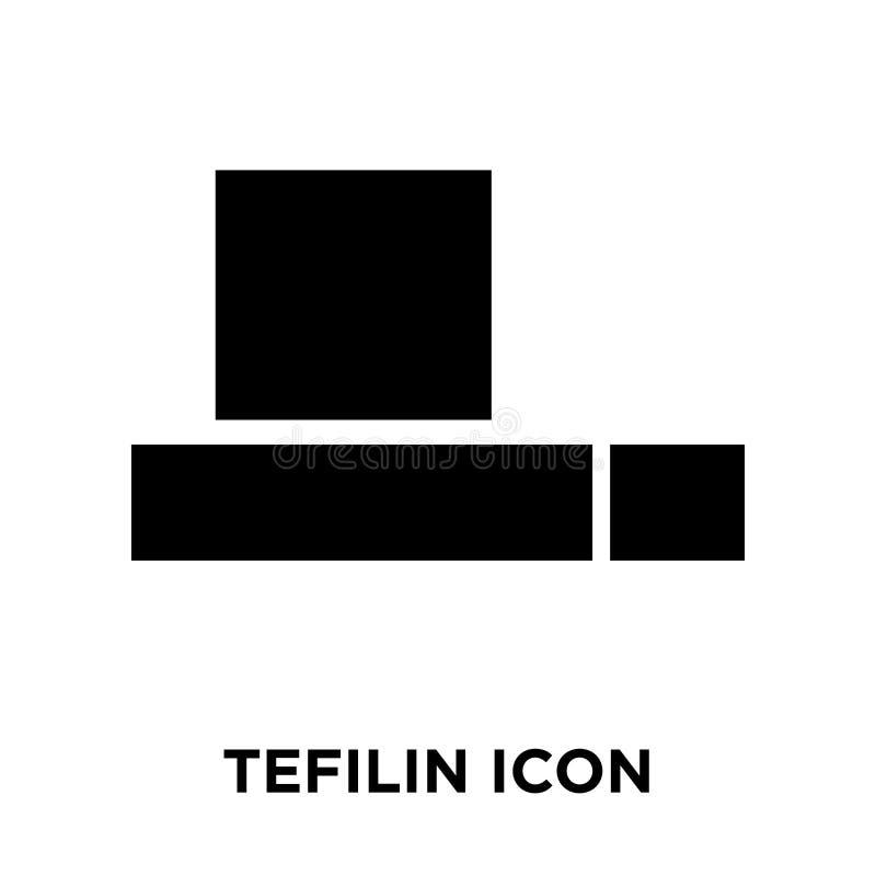 Tefilin symbolsvektor som isoleras på vit bakgrund, logobegreppsnolla stock illustrationer