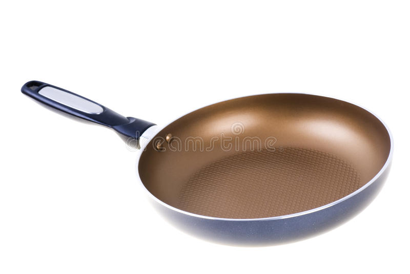 teflon frying pan isolated royalty free stock image
