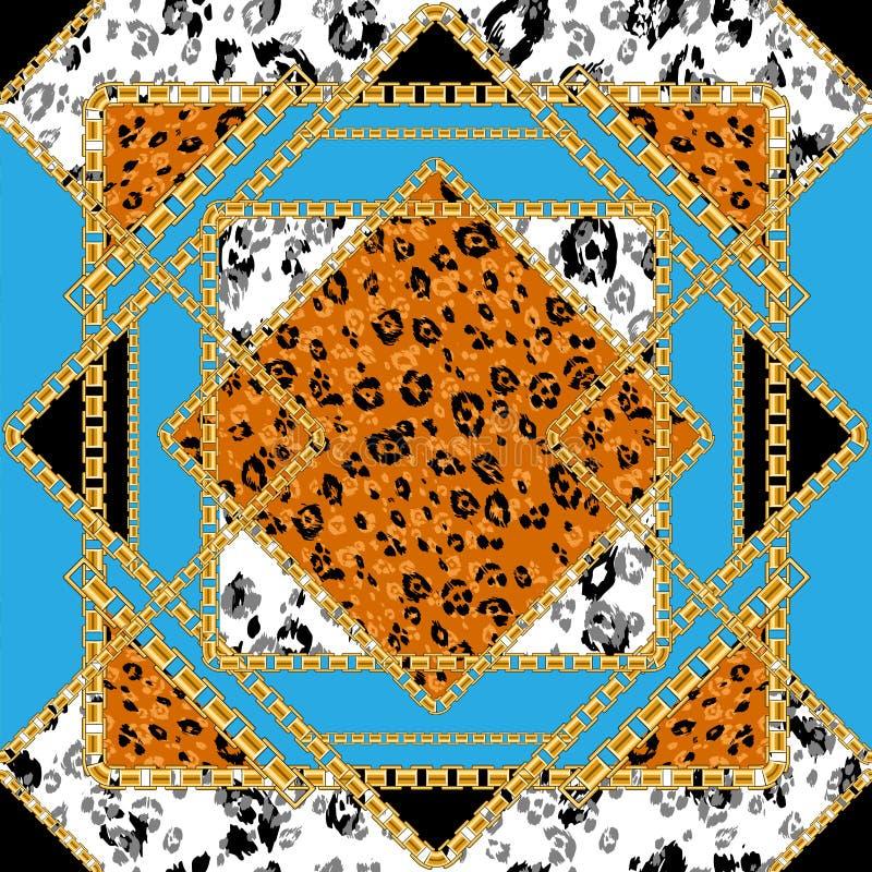 Tegel naadloos patroon royalty-vrije illustratie