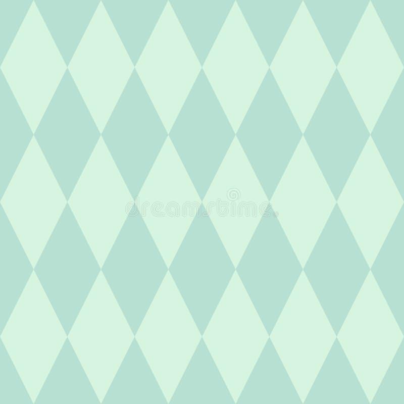 Tegel vectorpatroon of achtergrond van het munt de groene behang vector illustratie