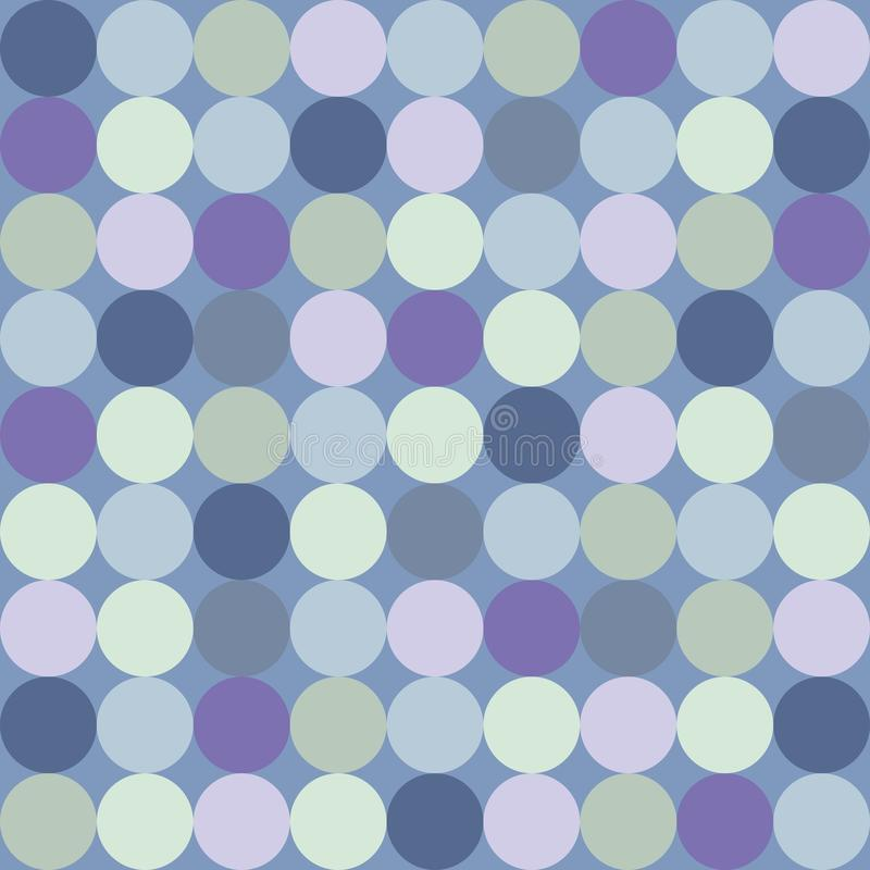 Tegel vectorpatroon met grote kleurrijke punten op blauwe achtergrond vector illustratie