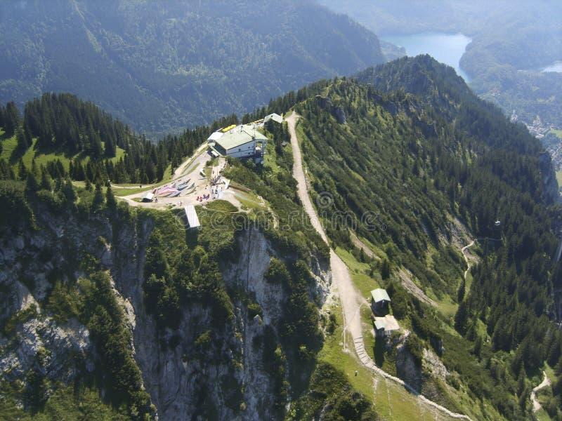 Tegelberg da estação da montanha fotos de stock royalty free