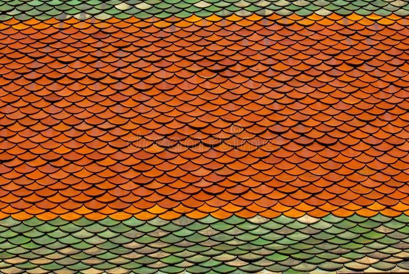 Tegeldaken van multi-colored klei worden gemaakt die royalty-vrije stock foto's