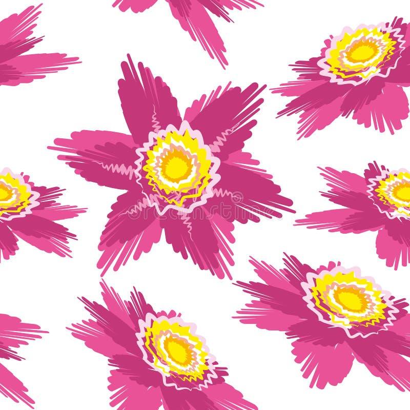 Tegelplatta för blommaillustrationbakgrund arkivfoto