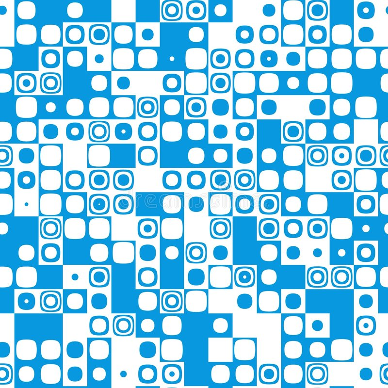 tegelplatta för textur för blå symbolsmosaikmodell seamless vektor illustrationer