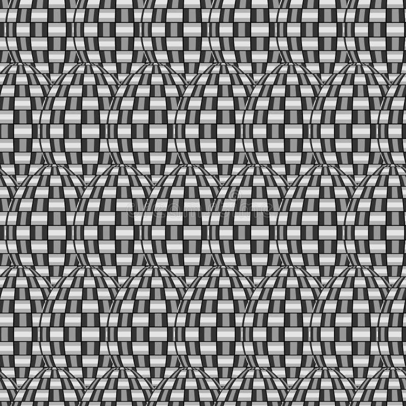 Tegelplattan flätar samman modellen vektor illustrationer