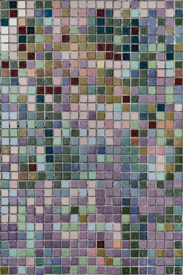 Tegelplattaväggmosaik arkivfoton