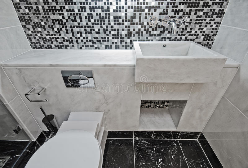 tegelplattor för badrummarmormosaik fotografering för bildbyråer