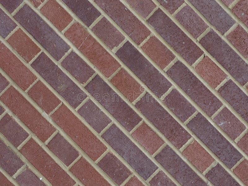 tegelplattor för bakgrund för vägg för röd tegelsten diagonala royaltyfria bilder
